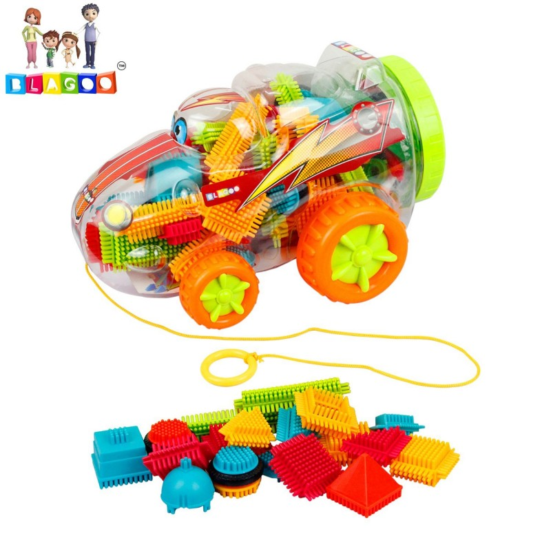 Building Blocks 45 pcs Plastic Construction Learning Set in Car Toy Case
